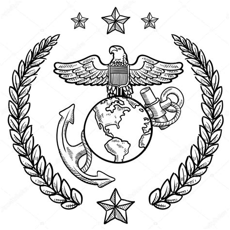 Army Symbol Coloring Page Coloring Pages Marine Corps Coloring Pages