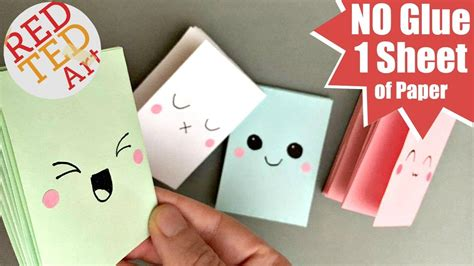 How To Make A Small Booklet Out Of Paper - easy mini notebook from one sheet of paper no glue