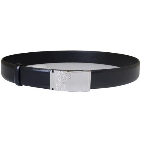 versace collection v910158 black buckle leather belt