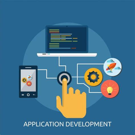 application design vector application development background vector free download
