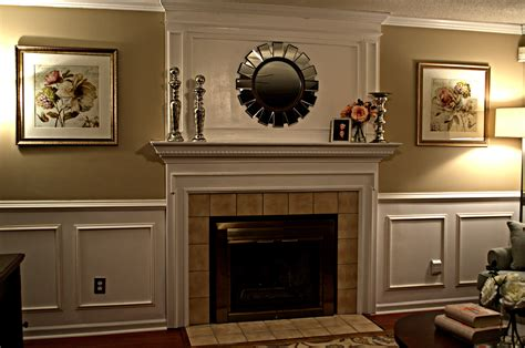 wainscoting ideas for living room paneling above fireplace fireplace overmantle