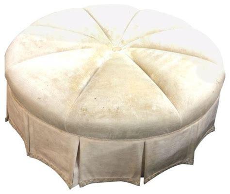 48 round ottoman 48 quot round velvet ottoman modern footstools ottomans
