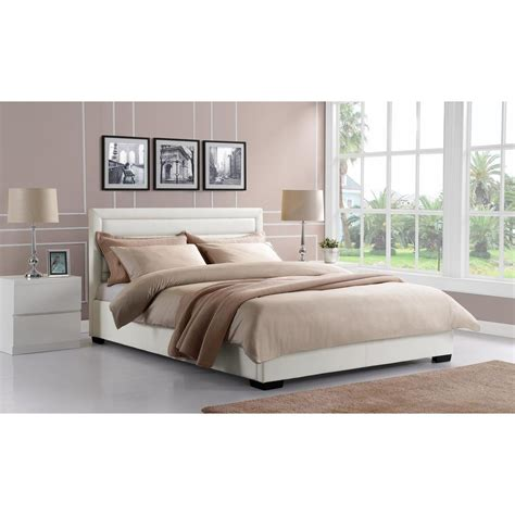 white leather king size bed dhp manhattan premium faux leather king size bed frame in