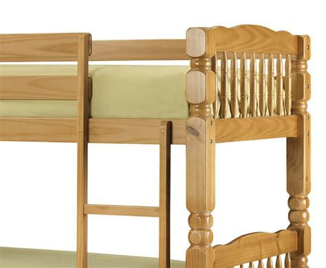 Solid Bunk Bed Chunky Solid Pine Bunk Bed Single Sized Uk Delivery