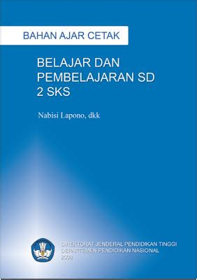 Buku Belajar Dan Pembelajaran 2 sg buku ajar belajar dan pembelajaran sd