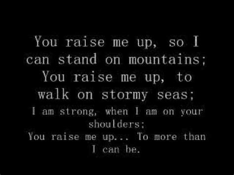 Raise Me Up Letra you raise me up lyrics doovi