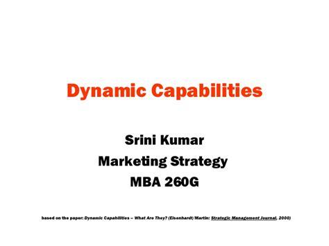 Capabilities Mba by Dynamic Capabilities