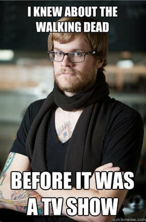 Hipster Meme - the best walking dead premiere memes and more