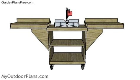 diy miter saw folding table free garden plans how to