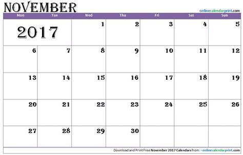 printable calendar 2017 fillable november 2017 fillable printable calendar blank calendar