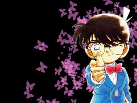 wallpaper anime detective conan detective conan purple butterfly hd wallpaper background