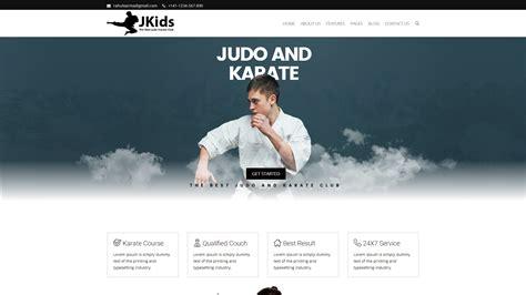 Jkids Judo Karate And Martial Art Html Website Template Karate Website Template