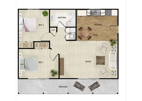 One Bedroom Apartment Designs by Large 70sqm Two Bedroom Granny Flat Designs For Qld By