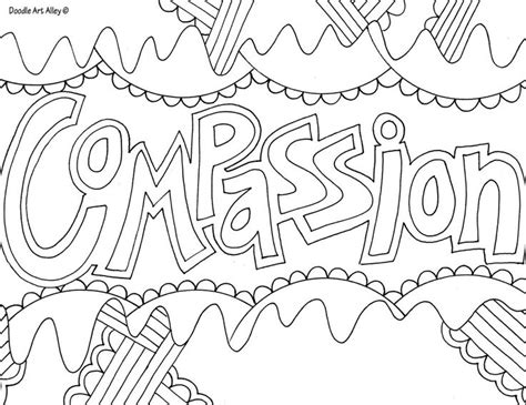 Compassion Words Coloring Pages Grown Ups Creative Coloring Pages Words