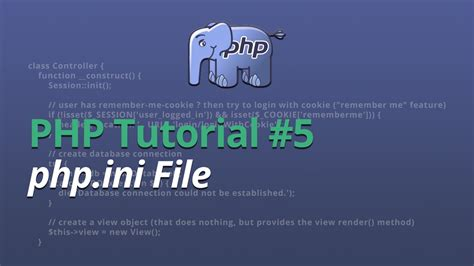 tutorial php ini php tutorial 5 php ini file youtube
