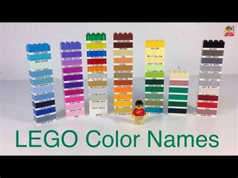 why are different colors bat why are lego s color names different than