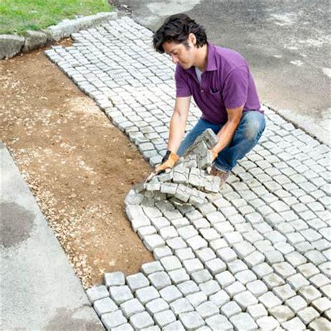 Cobblestone Paver Mats continue the courses how to build a driveway apron