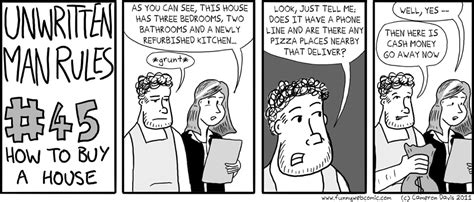 rules to buying a house unwritten man rules buying a house funny web comic