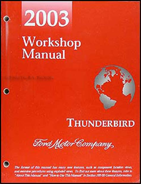 2003 ford f 150 repair shop manual original 2 volume set 2003 ford thunderbird repair shop manual original