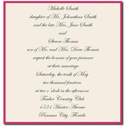 wedding invitation wording for friends wedding invitation wording for friends from and