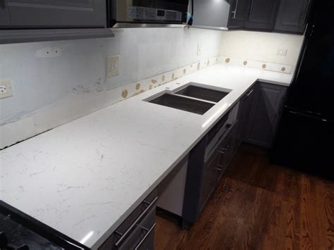 Quartz Countertops Chicago by Bianco Picasso Chicago Il Amf Brothers