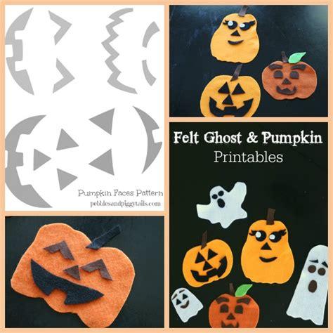 felt ghost pattern felt jack o lantern pumpkin and ghost faces making life
