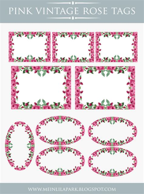 Charming Cheap Christmas Address Labels #4: VintagePinkTags24.png