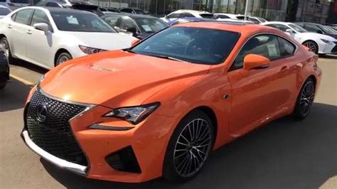 rcf lexus orange new orange 2015 lexus rc f walk around review solar flare