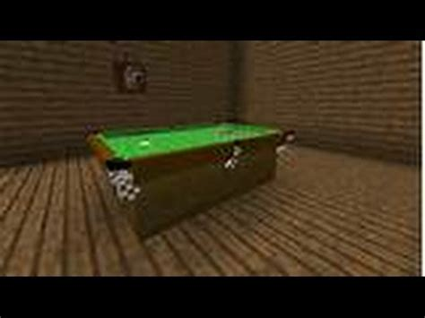 how to make a pool table how to build a pool table in minecraft youtube