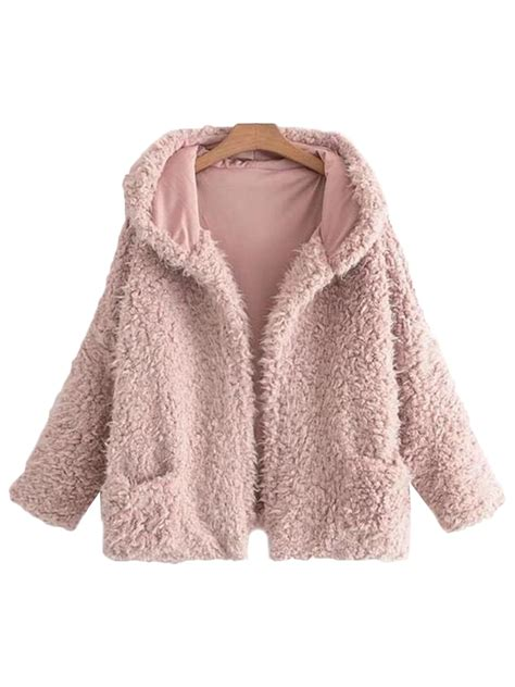Jaket Uber Not By Kaoskushop karena fluffy fur pink jacket uber soft