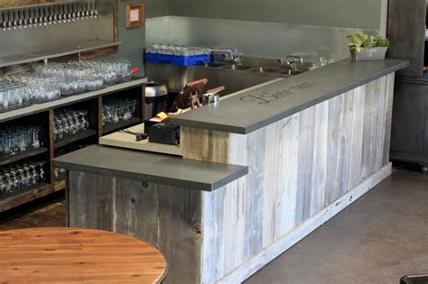 how to build a commercial bar top concrete bar top craftsman basement san francisco
