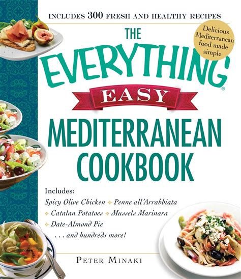 the everything healthy meal prep cookbook includes chicken primavera rosemary almond crusted pork tenderloin thai pumpkin soup korean breakfast muffins and hundreds more books the everything easy mediterranean cookbook book by