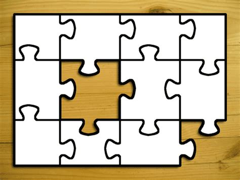 jigsaw puzzle template jigsaw template clipart best