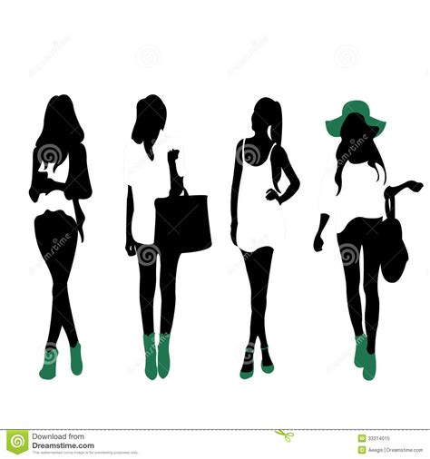 fashion silhouettes royalty free stock photo image 33314015