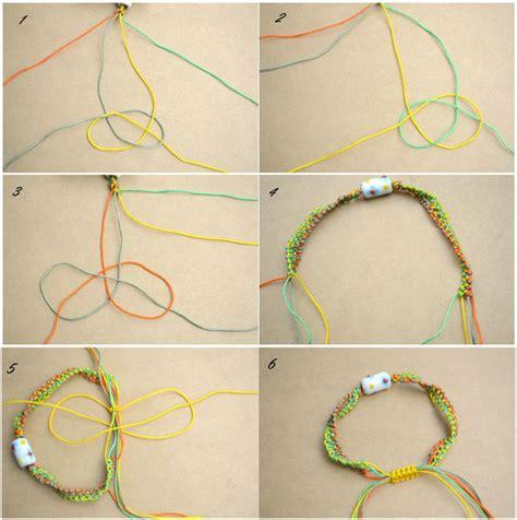 String Step By Step - how to make string bracelets step by step step by step
