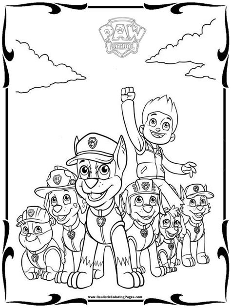 coloring page for paw patrol paw patrol free coloring pages