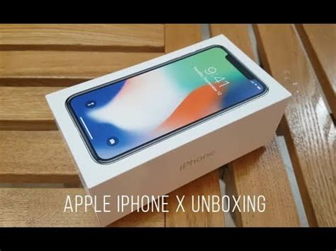 apple iphone x philippines unboxing and accessories check