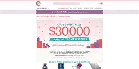 Qvc Sweepstakes - qvc com sweepstakes qvc is celebrating its 30th birthday with a sweepstakes