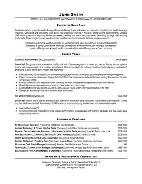 Hospitality Resume Template by Click Here To This Executive Sous Chef Resume
