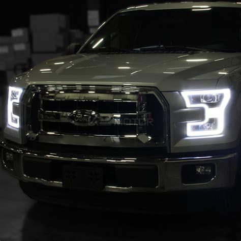 2016 f150 led lights 2015 2016 ford f150 led drl lights equipped black