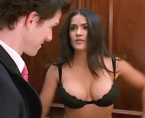 girl no bra gif sexy salma hayek gif find share on giphy