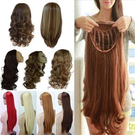 Wig Hair Clip us mega thick half wig fall clip in hair 3 4