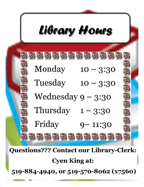 section 8 office hours library hours for 2012 2013 cedarbrae public school