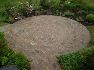 patio reclaimed bricks