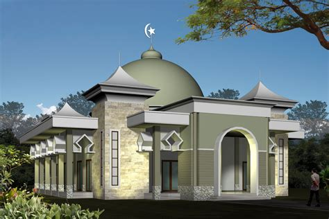 desain gambar masjid masjid minimalis artistik info bisnis properti foto