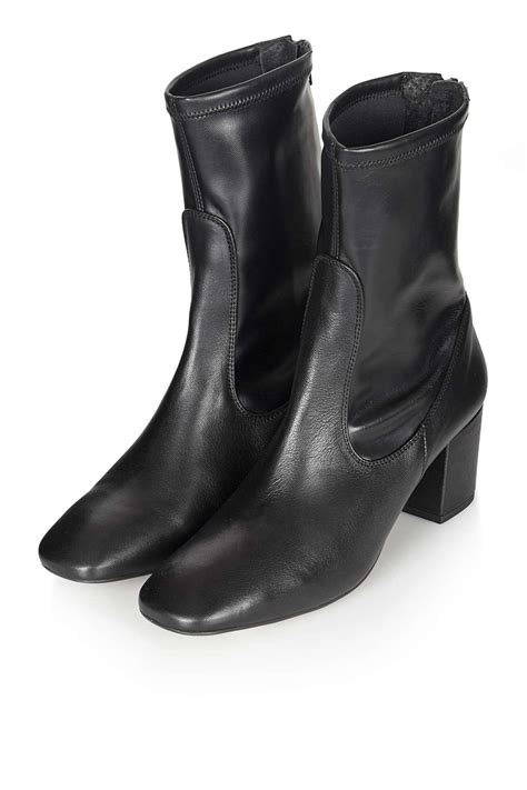 topshop monkey ankle boots in black lyst