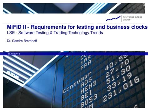 Requirements For Tester by Extent 2016 Mifid 2 Requirements For Testing And Business Clocks