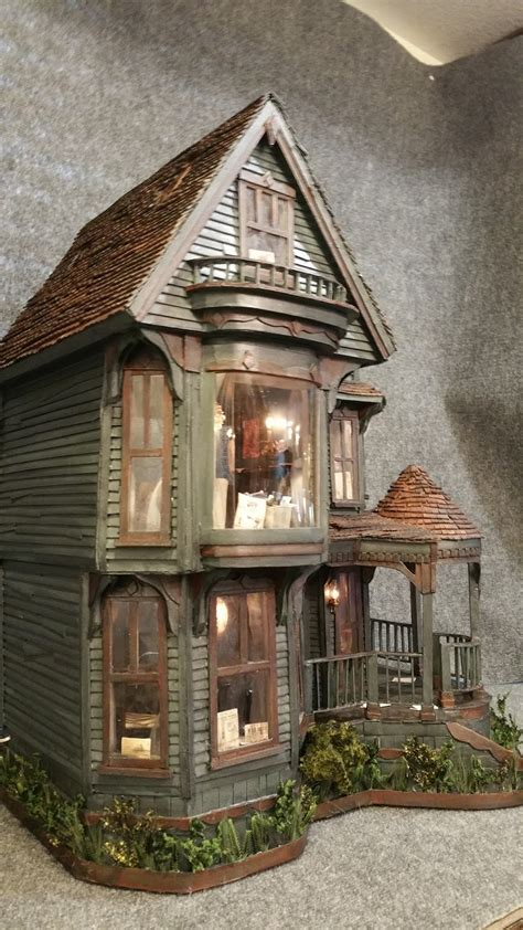 How To Make A Haunted House Out Of Paper - greggs miniature imaginations haunted mansion made out of