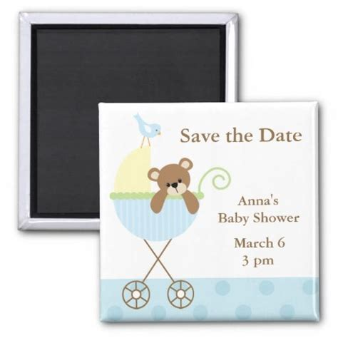 save the date for baby shower blue baby shower save the date