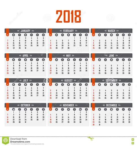 Calendario Por Semana Calendario Por Semanas 2018 Calendar 2018